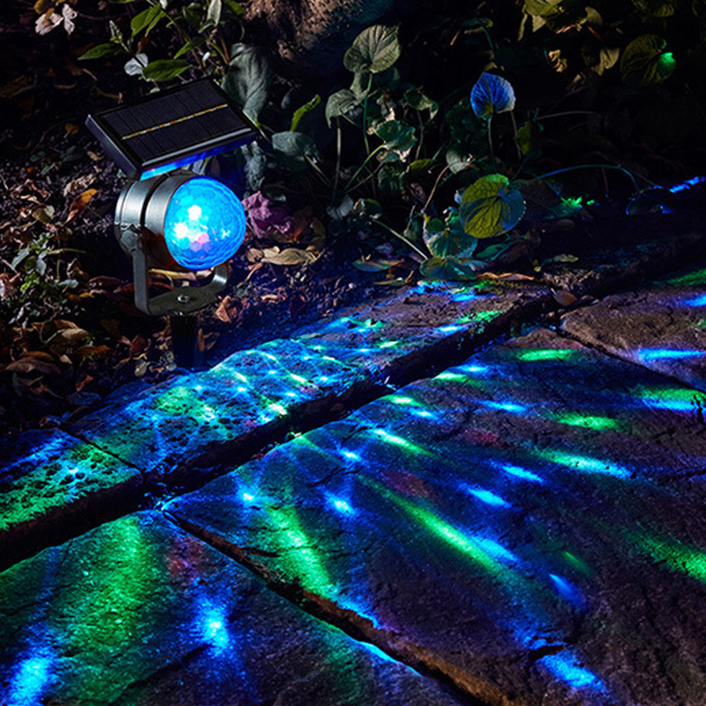Solar Projector Lights LED Lights Solar Garden Light Rotating LED Projection Lamp Garden Lawn Lamp Outdoor Lighting Christmas
