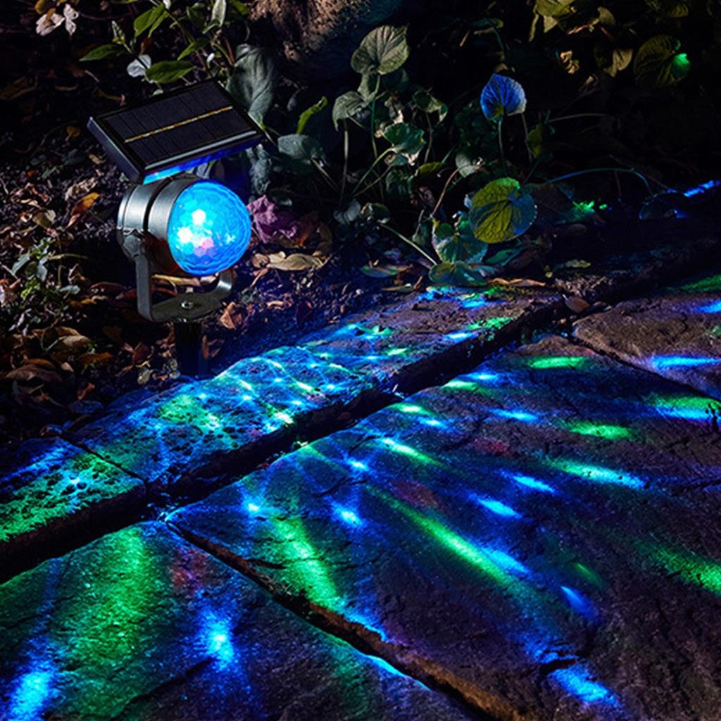 luzes do projetor solar luzes led solar jardim luz rotativa lampada de projecao led jardim gramado
