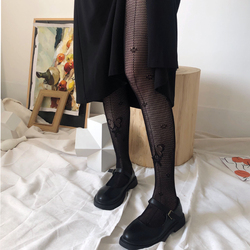 Sexy Women Lingerie Fishnet Bow Tights Lace Hollow Out Tights Ultra-Thin High Quality Pantyhose Lace Bow High Elastic Hosiery