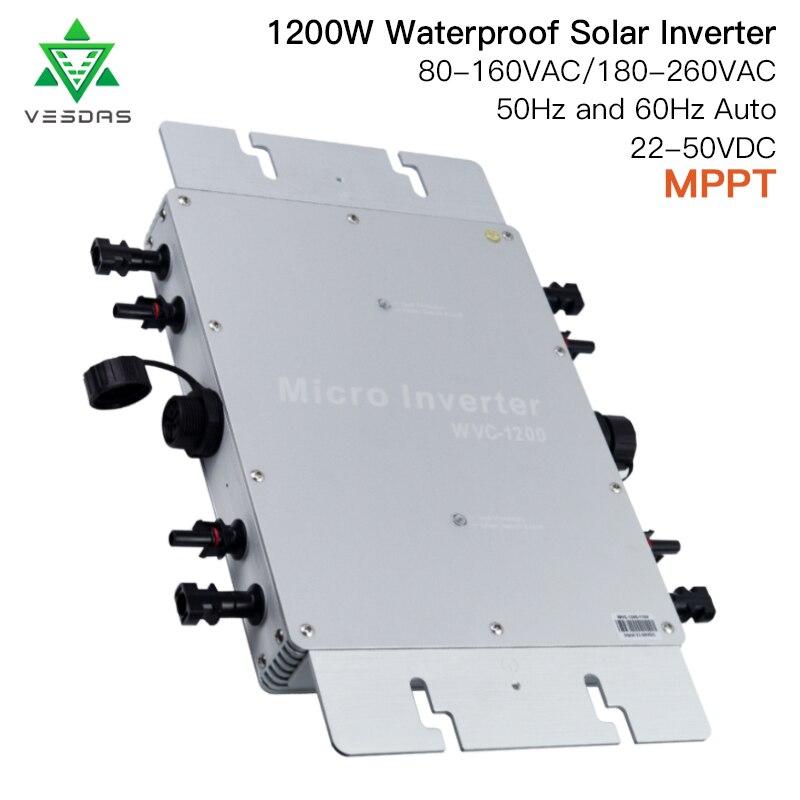 IP65 sul Legame di Griglia Inverter 1200W MPPT di Smart Micro inverter Solare a onda sinusoidale pura inverter Board DC 22- 50V a 80-260VAC per il Solare