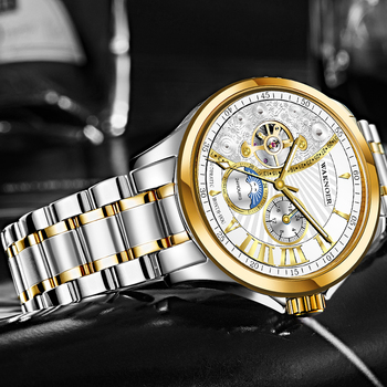 Mes の自動機械式時計の男性 2019 トップブランド腕時計ローマ数字ビジネス防水時計男性レロジオ Masculino Saat