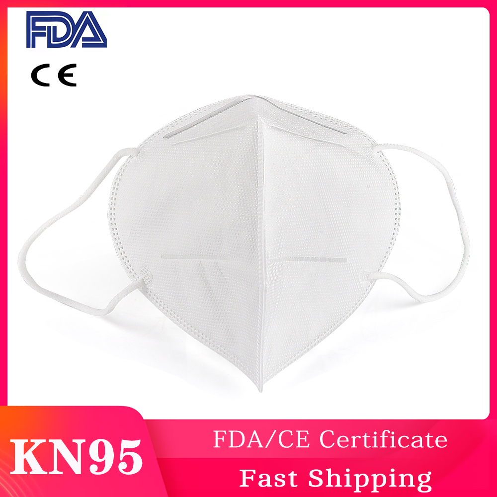KN95 Medical Masks Folding Mask Dustproof Bacteria Proof 95% Filtration 4 Layer Mouth Nose Proof CE FDA Certificate Anti PM2.5
