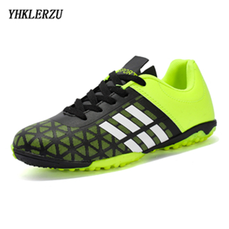 YHKLERZU 2019 Size 33-43 Men Boy Kids Soccer Cleats Turf Football Soccer Shoes Sneakers Trainers New Design Football Boots