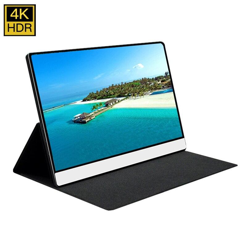 Monitor portátil 4K de 15,6 pulgadas, pantalla táctil LCD IPS de 3840x2160 para teléfono móvil, Juegos de ordenador portátil, Ps4, HDMI