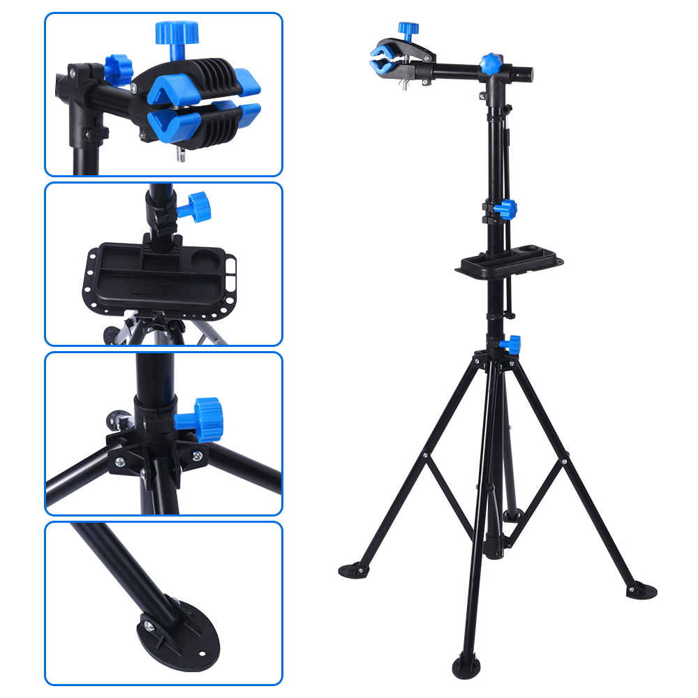 Adjustable 360 Degree Bicycle Repair Stander Holder MTB Road Bike Stand Support Portable Steel Rack Stable Cycling Display Stand|Bicycle Repair Tools| |  - title=