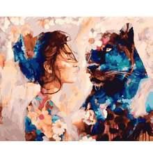 Ruopoty рамка diy Краска ing по номерам картина пейзаж настенная