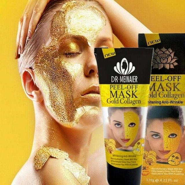 24k Gold Collagen Peel Mask Milk Rose Olive Depth Replenishment Anti Aging Remove Wrinkle Blackhead Acne Korean Face Mask 4