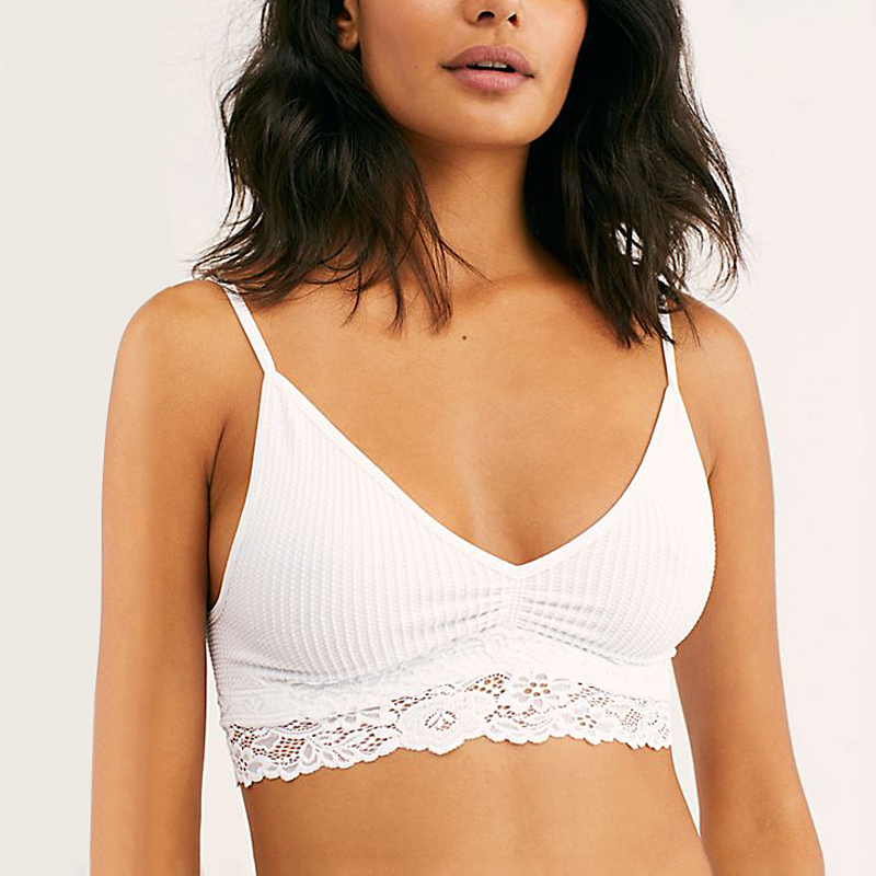New Women Bra 2019 Thin Seamless Wire Free Lace Bralette Backless Seamless Femme Lace Bras For Women Sexy Lingerie
