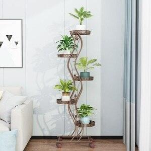 Image 5 - Salincagi Support Pour Plante Decoration Exterieur Outdoor Decor Mensole Per Fiori Flower Stand Iron Balkon Balcon Plant Shelf
