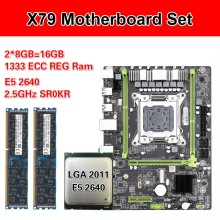 Kllisre X79 M2 Placa base con Xeon LGA 2011 E5 2640 2 × 8GB = 16GB 1333MHz memoria de registro DDR3 ECC(China)