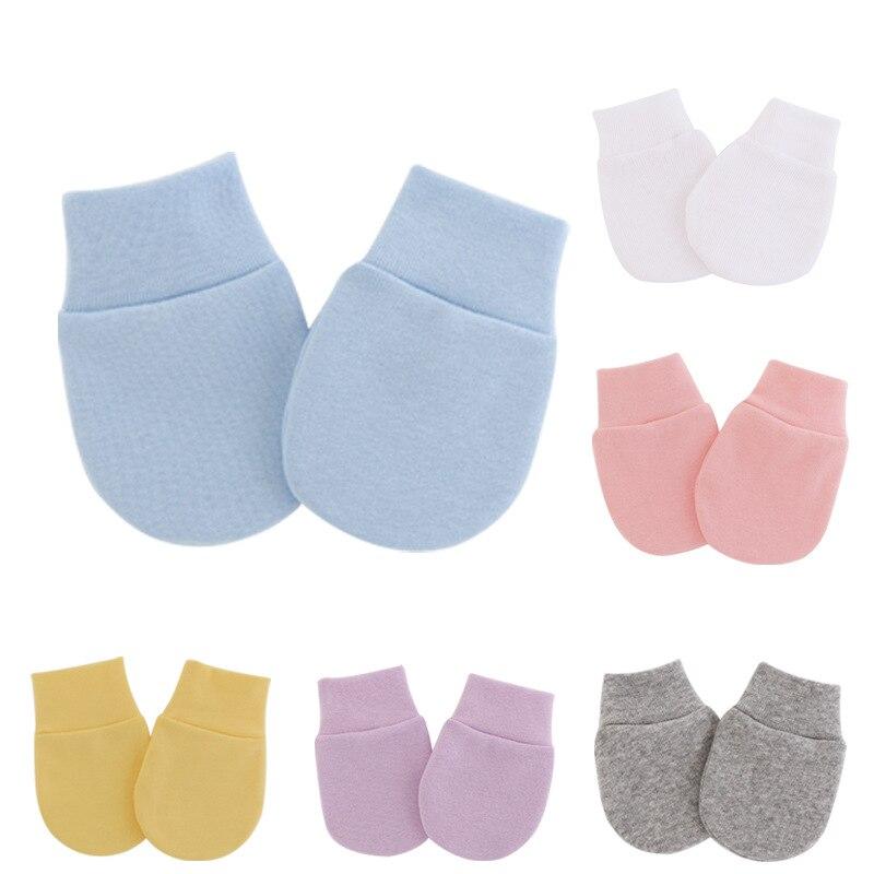 Милая повседневная одежда для малышей Вязаные рукавицы для новорожденных, детские носки-есть ручной для защиты от захвата уход за кожей лиц...