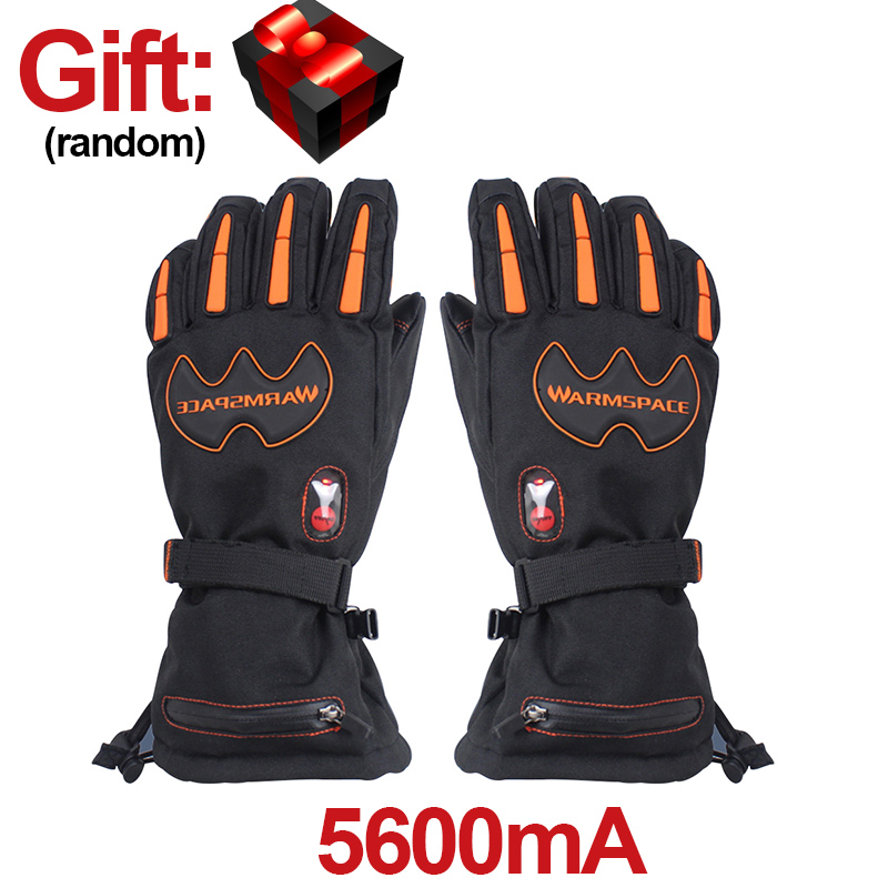 2018 New Temperature Control Electric Gloves Ski Riding Hand Five Fingers Heating Thick Warm Waterproof Windproof