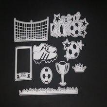 Grassland zestaw piłkarski rama wykrojniki do metalu foremki do wycinania formy dekoracja księga gości papierowe rzemiosło forma do noża podkładki chroniące przed uderzeniami ostrzy