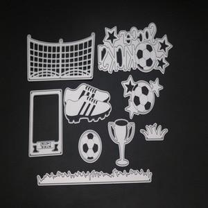 Grassland Football Set Frame Metal Cutting Dies Cut Die Mold Decoration Scrapbook Paper Craft Knife Mould Blade Punch Stencils