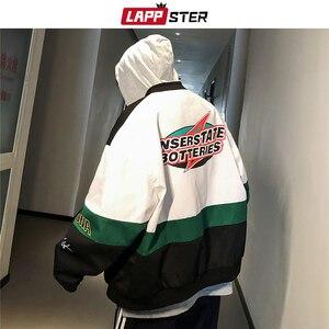 Image 5 - LAPPSTER erkekler Patchwork Streetwear bombacı ceketler 2020 sonbahar erkek kore modası rüzgarlık Harajuku Hip Hop ceketler mont