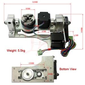 Image 5 - Máquina grabadora enrutador CNC 3020 3 ejes 4 ejes 5 ejes Marco de aleación de aluminio tornillo de bola y limitado swith Mach3 control para drillinng