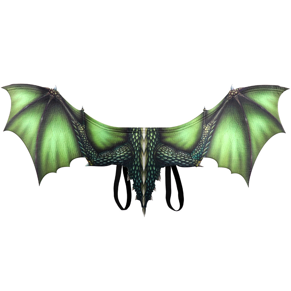 Adult Boy and Girl Kids Halloween Decoration Carnival Party Animal Costume Dragon Cosplay Masquerade Face Mask and Wings 3