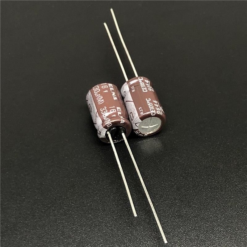 10pcs/100pcs 330uF 16V Japan ELNA RJ3 Series 8x11.5mm 16V330uF Audio Grade Capacitor