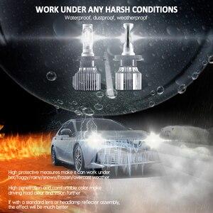 Image 4 - CNSUNNYLIGHT Auto HA CONDOTTO il Faro Lampadine All in One H7 H11 H1 880 H3 9005 9006 9012 5202 72W 8500LM h4 H13 9007 High Low Fascio di Luci