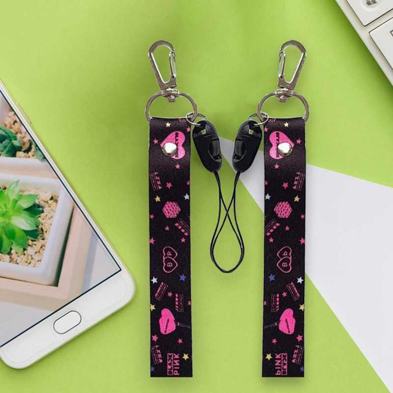 Kpop Blackpink Got7 Exo الهاتف حبل شريط لتعليق الهاتف المحمول مفتاح قلادة عصابة اسهم المفاتيح نفس الفقرة
