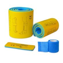 3 teile/satz Medizinische Splint Rolle Aluminium Notfall Erste Hilfe Bruch Feste Schiene Mit Selbst adhesive Verband
