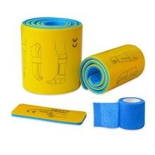 3 ピース/セット医療スプリントロールアルミ緊急応急処置骨折固定スプリント自己粘着包帯