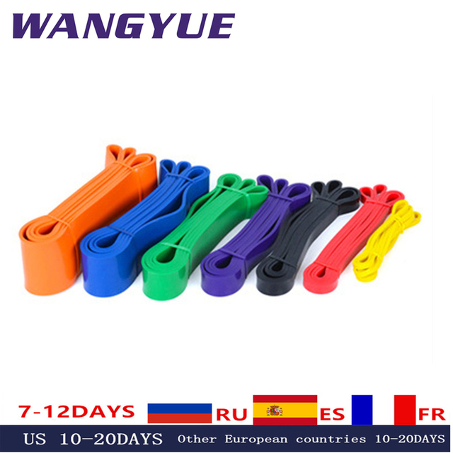 Resistance Bands Exercise Elastic Natural latex Workout Ruber Loop Strength rubber band for Fitness Equipment Training Expander 1