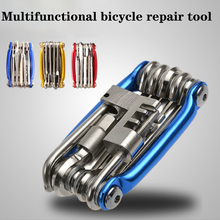 Bicycle repair tool portable mountain bike multifunctional combination with chain cutter disassembly