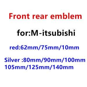1 pçs abs chrome prata vermelho capô dianteiro do carro emblema traseiro emblema adesivo carro emblema estilo do carro acessórios de automóveis