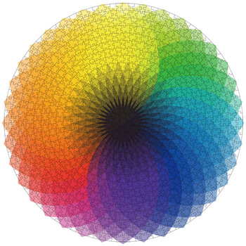 this is one of the 1000 piece jigsaw puzzles. This is of a colour wheel
