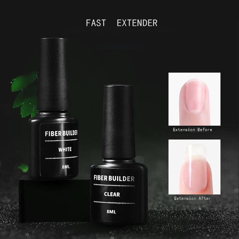 Faser Verlängern Gelpolish Verstärkung Schnelle Reparatur Phototherapie UV Gel Nagellack Nail art Tipps Semi Permanent Klar Weiß DIY