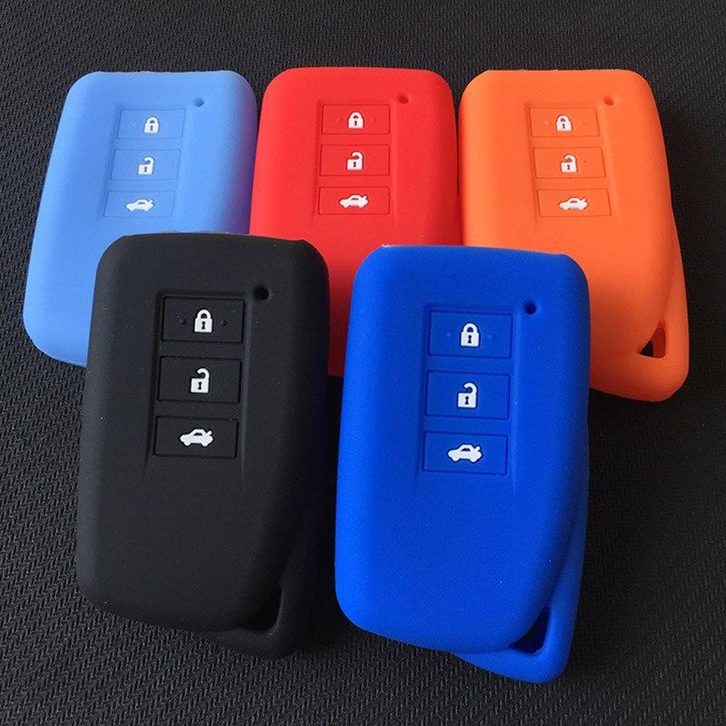 ZAD funda de silicona para la llave del coche cubierta de shell para Lexus NX GS RX ES GX LX RC ES 250, 200, 350, 300H a 450H CT200 RX270LX NXIS clave fob
