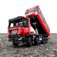 BuildMOC City Police NextGen SCANIA Truck Truck Building Blocks Sets Ship Vehicle Technic Educational Bricks Playmobil Toys