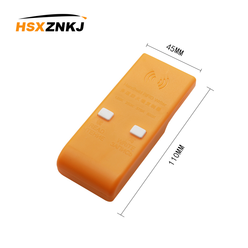 Handheld 125/250/375/500KHz RFID ID  Card Writer/Copier Duplicator + 3pcs Writable EM4305 Key Cards + 3pcs Writable T5577 Cards