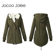 Jocoo Jolee Women Winter Parkas Fashion Mid Long Wadded Coat Female Hooded Thick
