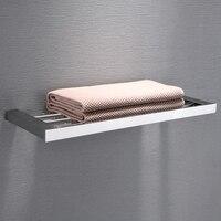 Simple style bathroom 304 stainless steel single layer towel rack shelf towel rack bathroom rack bathroom hardware pendant