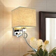 Moderno aplique de LED para pared ajustable interior ojo proteger lectura de cabecera de la lámpara con el interruptor E27 bombilla cabecera casa pared del Hotel L