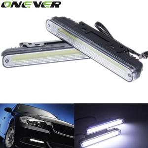 Onever 2pcs Universal Hot Ultra Bright 12W COB Daytime Running Light 6500K LED Car DRL Driving Lamp Waterproof Day Time Lights