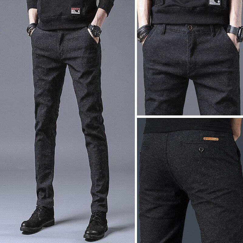 Новинка весны 2019, мужские многоцветные повседневные штаны, бизнес стиль, модные эластичные однотонные облегающие брюки DAX31