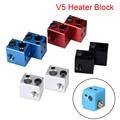 V5 нагревательный блок алюминиевый блок V5 силиконовый носок 3d принтер части VS E3D V6 блок подходит j-головка Hotend Bowden экструдер термистор