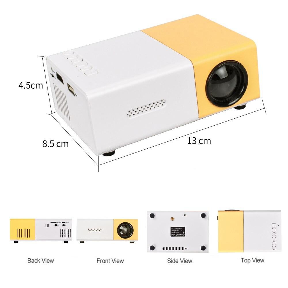 Salange YG300 Pro Projector LED 800 lumens 3 5mm Audio 320x240 Pixels HDMI USB Mini Projector