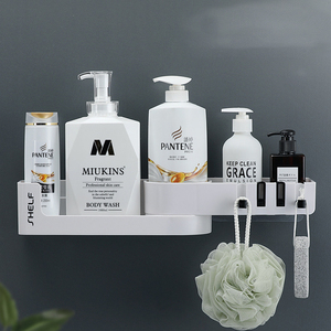 Image 2 - Bad Regal Ecke Regale Shampoo Halter Küche Lagerung Rack Chaos Dusche Organizer Wand Halter Raum Schoner Haushalts Artikel