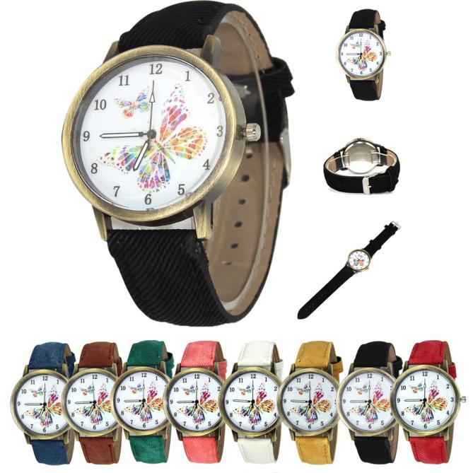 Vintage Floral Pattern Watches For Women 2020 Fashion Lady Butterfly Casual Quartz Watch Elegant Dress Wristwatch Relojes