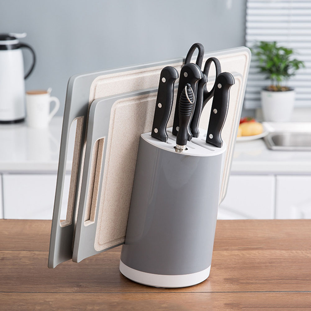 Non Slip ABS Tilt Design Multifunction Cutlery Detachable Cutting Tool Storage Kitchen Practical Simple Cutting Board Holder