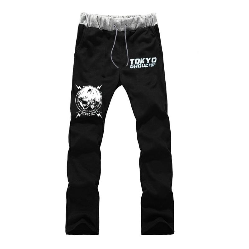 Tokyo Ghoul Streetwear Pants Mens Straight Pants Harajuku Trousers Luminous Sweatpants Joggers Autumn Winter Sporting Clothing