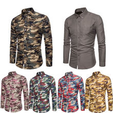 Men Casual Shirts 2019 Brand Camouflage