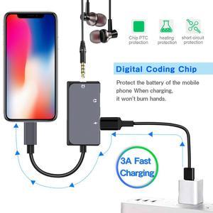 Image 2 - Lefon 3 en 1 USB tipo C a 3,5mm adaptador de conector de auriculares convertidor + puerto de carga PD DAC tecnología para Xiaomi Huawei HTC Google