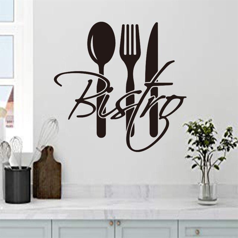 Autocollants cuisine française bistro vinyle Stickers muraux décalcomanies murales art mural papier peint décoration de la maison tuile décoration de la maison DD0337