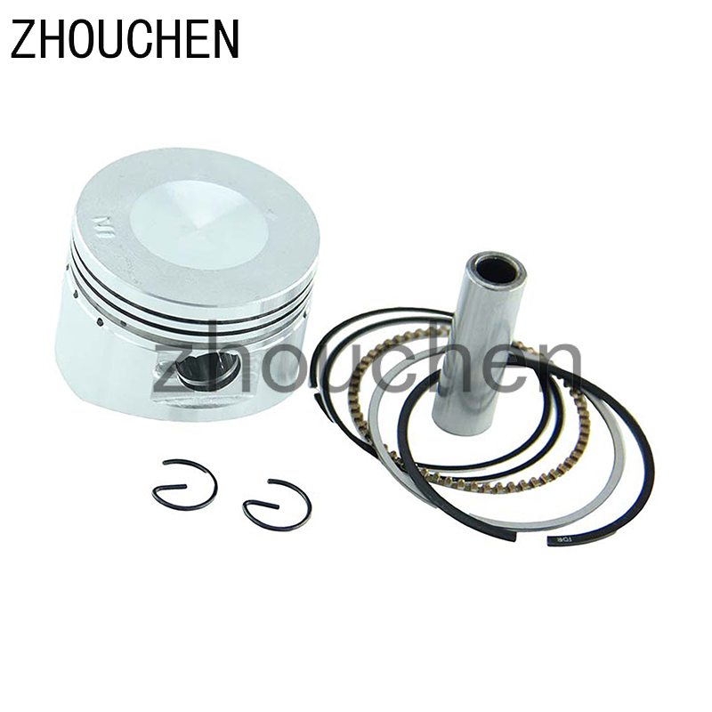 Piston Assembly for 110cc <font><b>Dirt</b></font> <font><b>Bikes</b></font> Go Karts ATV52.4mm 13mm Pin Set SUIT ALL Chinese <font><b>125CC</b></font> AIR COOL HH-120 image