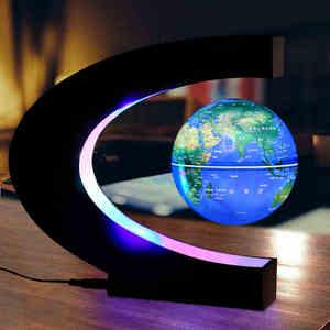 Novel Magnetic Globe Tellurion Toys for Kid with LED Light Home Desk Decor Technology Learning Education Birthday Christmas Gift